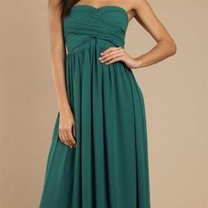 """Tobi """"Go Glam Emerald Strapless Maxi Dress"""""""